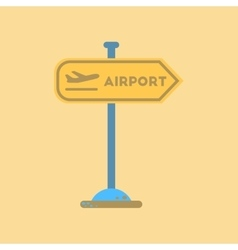 Flat icon on background airport sign vector