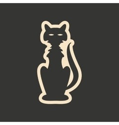 Flat in black and white mobile application cat vector