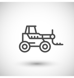 Forklift telescopic loader line icon vector