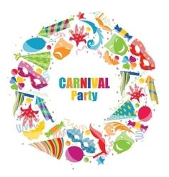 Frame Celebration background with carnival vector