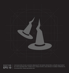 Halloween witch hats icon vector