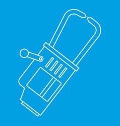 Hammer slag of welder icon outline vector