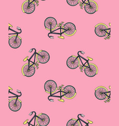Hand drawn with bicycle cycling design isolated on vector