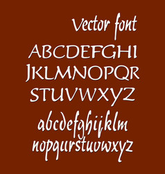 handwritten alphabet letters abc for your vector image