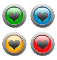 Heart icons buttons vector image
