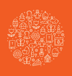 holiday symbols easter vector image
