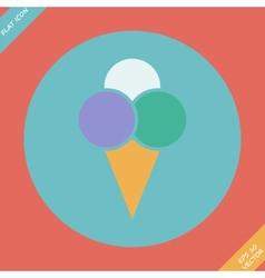Ice cream icon - flat design vector