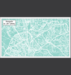 kampala uganda city map in retro style outline map vector image
