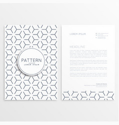 Letterhead template design with pattern shape vector