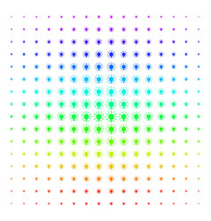 light bulb icon halftone spectral grid vector image