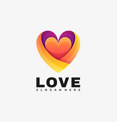 logo love gradient colorful style vector image