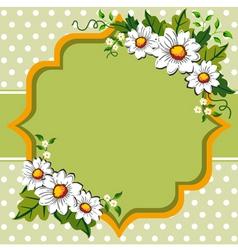 margarites spring frame vector image