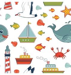 Marine pattern vector