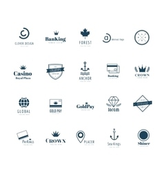 Massive logo set Old style and modern flat icons vector