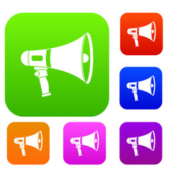 megaphone set color collection vector image