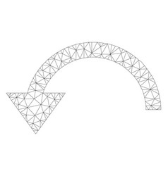 Mesh rotate ccw icon vector