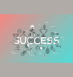 Modern thin line design concept for success vector