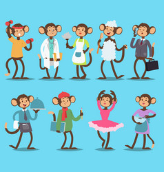 monkey like people smiling nature animals vector image