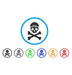 Mortal skull rounded icon vector