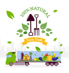 natural food transportation vector image