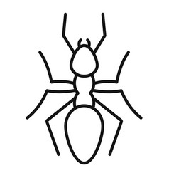 Nature ant icon outline style vector