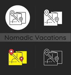 nomadic tour dark theme icon vector image