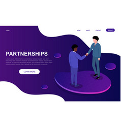 partnership and agreement concept vector image