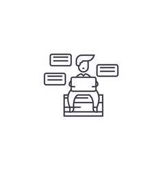 Productivity line icon sign vector