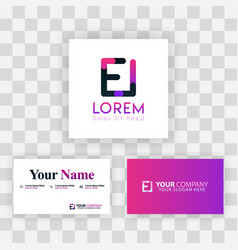 purple modern creative clean business card vector image