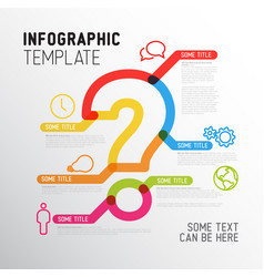 Question mark infographic report template vector