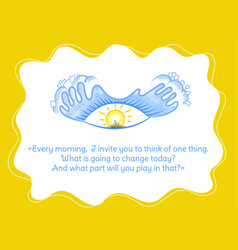 Quote changing your life vector