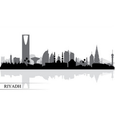 Riyadh city skyline silhouette background vector