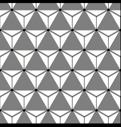 Seamless cubical grey and white pattern vector
