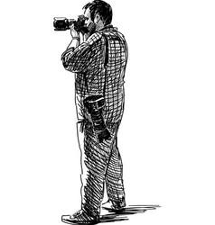 shooting photographer vector image