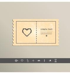 Simple stylish pixel icon heart design vector