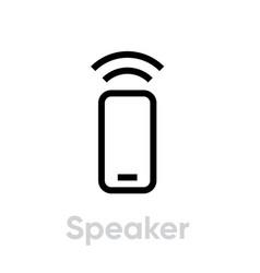 Speaker phone icon editable line vector