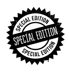 Special edition stamp vector image