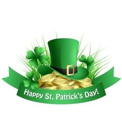 St Patricks background vector image