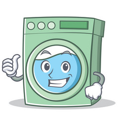 Thumbs up washing machine character cartoon vector