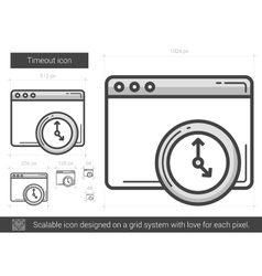 Timeout line icon vector