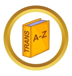 Translation book icon vector