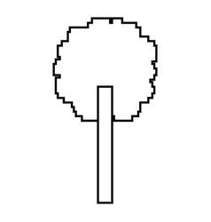 Tree pixel foliage ecology design vector