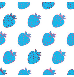 Trendy youthful pattern withstrawberries vector