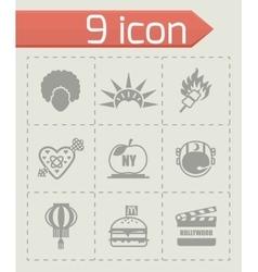 USA icon set vector