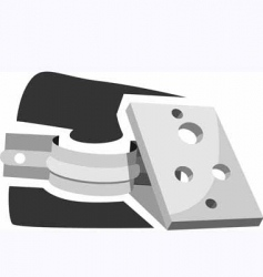 working equipment with site vector image