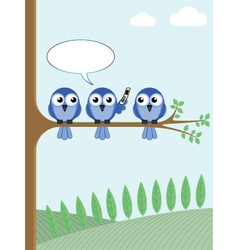 BIRD TREE PHONE vector image