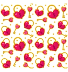 Cute seamless pattern Valentines day with heart vector image