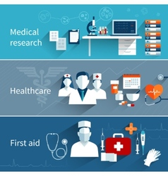 Medical Flat Banners vector image