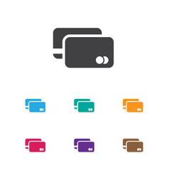of shopping symbol on debit vector image