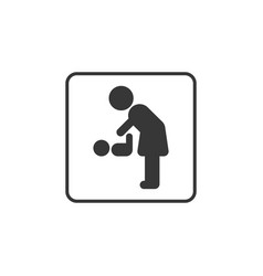 Pictogram for mother and baby restroom vector